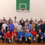 Турнир по волейболу среди ветеранов спорта.